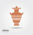antique greek vase vector image