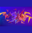 astract 3d geometric shape isolated vector image vector image