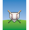 baseball and bats on pinstripes vector image vector image