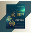 beautiful flyer greeting for christmas celebration vector image vector image