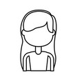 beautiful icon girl vector image vector image