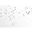 beautiful silver confetti and ribbon vector image vector image