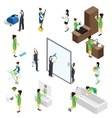 Big Cleaning isometric Pictograms Composition vector image vector image