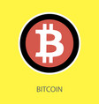 bitcoin physical bit coin digital currency vector image vector image