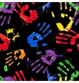 black seamless pattern with multicolored paint vector image vector image
