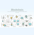 blockchain technology advertising vector image vector image