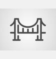 bridge icon signy symbol vector image