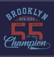 brooklyn new york champion vector image vector image