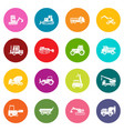 building vehicles icons many colors set vector image vector image