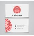 Business card template Brain maze concept logo vector image vector image