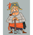 cartoon man in clothes of pirate with an ax vector image