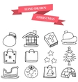 Christmas winter icons set vector image vector image