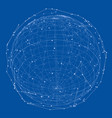 close up earth and network lines on top it vector image