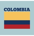 colombia country flag vector image vector image