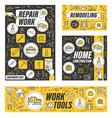 construction work tools house repair remodeling vector image