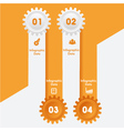 Creative gears Info-graphics option banner vector image