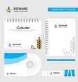 crops in hands logo calendar template cd cover vector image