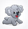 cute cartoon infant koala crawling vector image