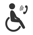 disability man pictograph flat icon phone isolated vector image vector image