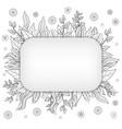doodle floral vintage card vector image vector image