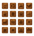 Eco Friendly Wooden Buttons vector image vector image