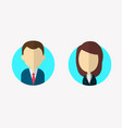 flat businessman and businesswoman characters vector image