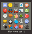 flat icon-set 10 vector image vector image