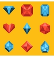 Flat icon set Diamond vector image vector image