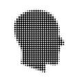 gentleman profile halftone dotted icon vector image