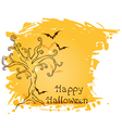 Halloween background with tree vector image vector image
