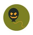 happy halloween balloon horror face trick vector image