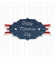 Happy Memorial Day Label with Text vector image vector image