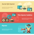Hipster Banner Set vector image vector image