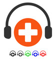 hospital call service flat icon