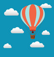 hot air baloon in sky vector image vector image