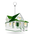 house as a keychain vector image
