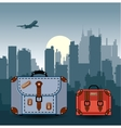 ity with suitcases vector image vector image
