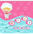 Kids menu design vector image