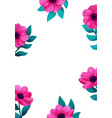 magic flowers template beautiful wild garden vector image
