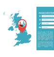 manchester map infographic vector image