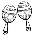 maracas drawing on white background vector image vector image