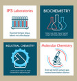 molecular and industrial chemistry cards set vector image