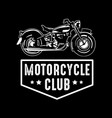 motorcycle badge and logo good for print vector image