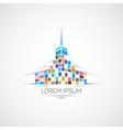 Multicolor building vector image vector image