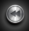 music backward icon vector image vector image