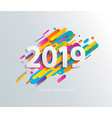 new year 2019 card on modern motion background vector image vector image