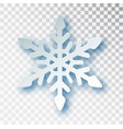 paper cut snowflake with shadow isolated on vector image vector image