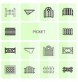picket icons vector image vector image