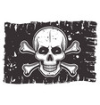 pirates black flag with skull and crossbones vector image
