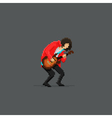 Pixel Guitar Player vector image